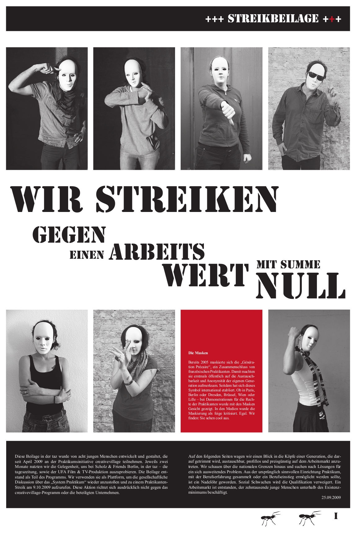 Cover Streikbeilage